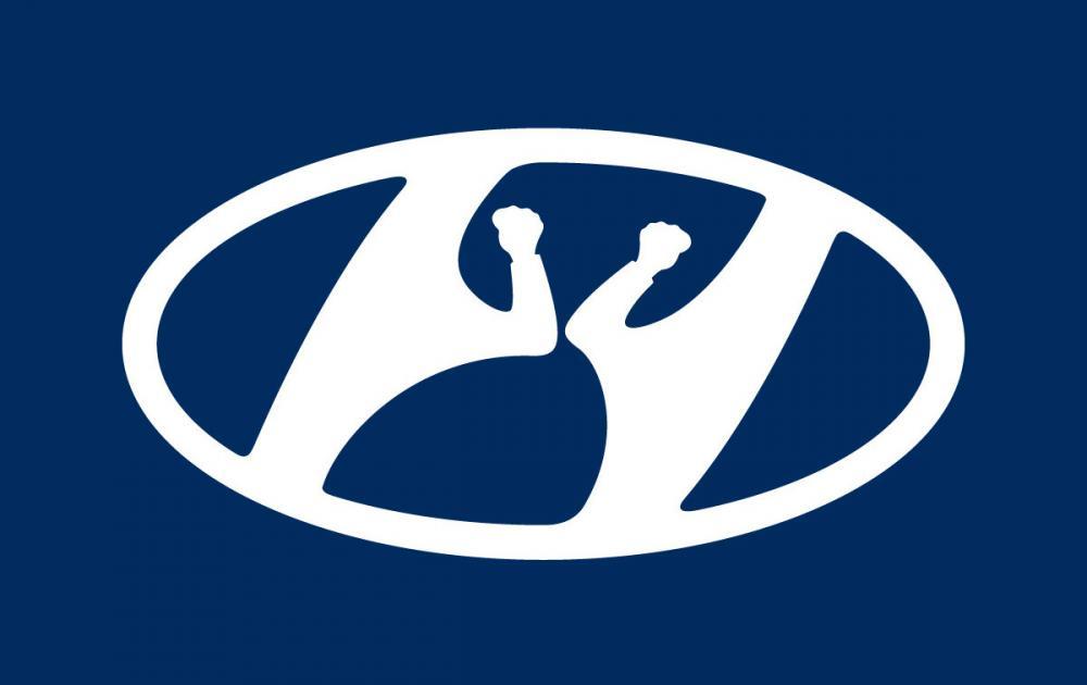 Временный логотип Hyundai.