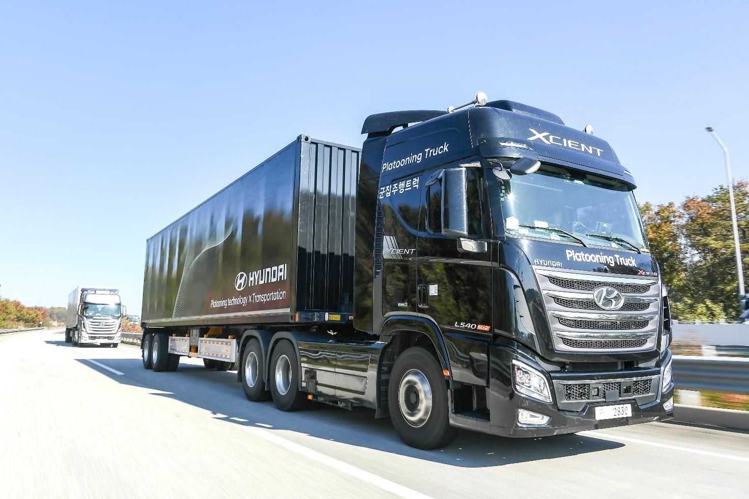 Hyundai Motor демонстрировала возможности беспилотного вождения грузовой автоколонны